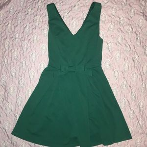 Blue Green Dress with Bow
